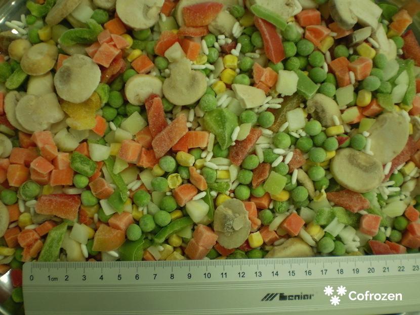 'Warzywa z ryżem i pieczarkami'